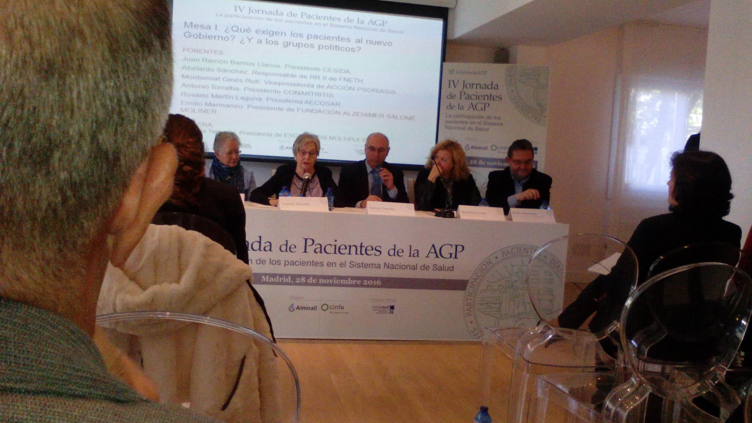 IV Jornada de Pacientes de la AGP